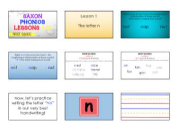First Grade Saxon Phonics Lessons {1-10}