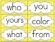 Saxon Phonics First Grade Sight Word Cards {Yellow Polka-D