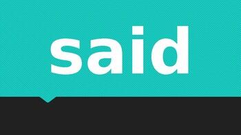 Saxon Phonics First Grade Sight Words Editable PowerPoint