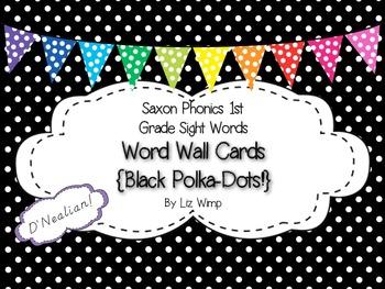 Saxon Phonics First Grade Sight Words Word Wall Cards {Bla