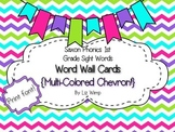 Saxon Phonics First Grade Sight Words Word Wall Cards {mul