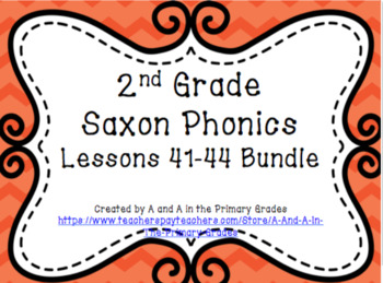 2nd Grade Saxon Phonics Lessons 41-44