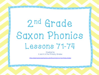 2nd Grade Saxon Phonics Lessons 71-74