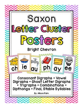 Saxon Phonics Letter Cluster Posters {bright chevron}