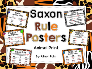 Saxon Phonics Rule Posters {animal print}