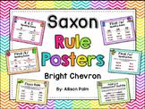 Saxon Phonics Rule Posters {bright chevron}