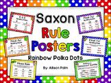 Saxon Phonics Rule Posters {rainbow polka dots}
