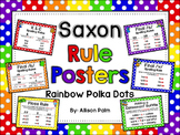 Saxon Phonics Rule Posters {rainbow polka dots}