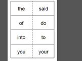 First Grade Saxon Phonics Sight Word Flash Cards