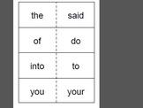 First Grade Saxon Phonics Sight Word Flash Cards