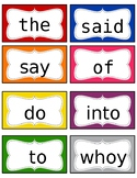 Saxon Phonics Sight Word List 1st grade for Word Walls