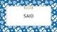 Saxon Phonics Sight Word Slides