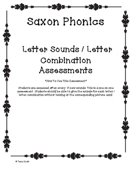 Saxon Phonics Sound Assessment