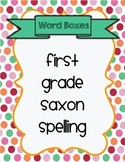 Saxon Phonics Spelling First Grade Word Boxes