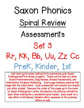 Saxon Phonics Spiral Review Assessments 3