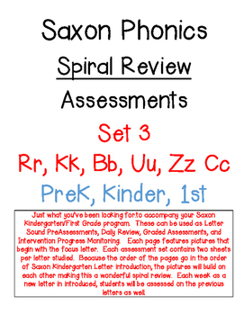 Saxon Phonics Spiral Review Assessments 3