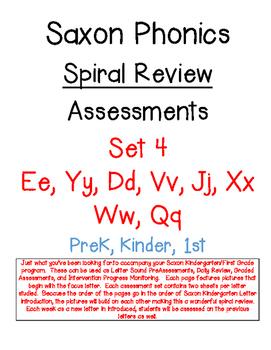 Saxon Phonics Spiral Review Assessments 4