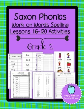Saxon Phonics Weekly Spelling  Activity Pack Lessons 116-120