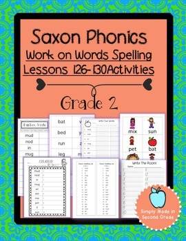 Saxon Phonics Weekly Spelling  Activity Pack Lessons 126-130
