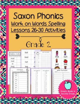 Saxon Phonics Weekly Spelling  Activity Pack Lessons 26-30