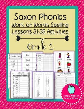 Saxon Phonics Weekly Spelling  Activity Pack Lessons 31-35