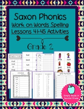 Saxon Phonics Weekly Spelling  Activity Pack Lessons 41-45