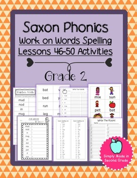 Saxon Phonics Weekly Spelling  Activity Pack Lessons 46-50