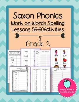 Saxon Phonics Weekly Spelling  Activity Pack Lessons 56-60