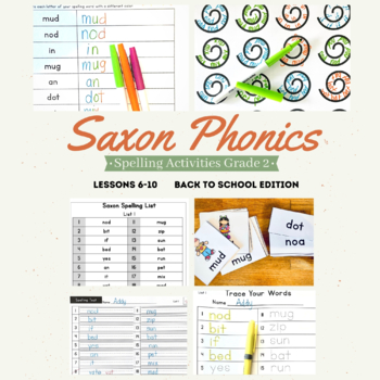 Saxon Phonics Weekly Spelling Activity Pack Lessons 6 10 Second Grade
