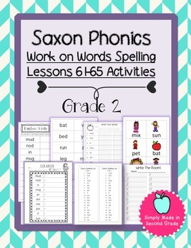 Saxon Phonics Weekly Spelling  Activity Pack Lessons 61-65