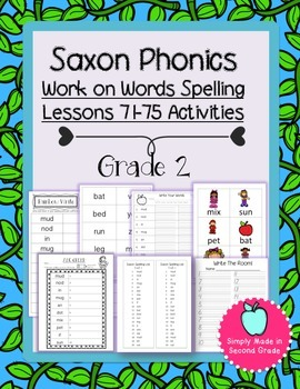 Saxon Phonics Weekly Spelling  Activity Pack Lessons 71-75