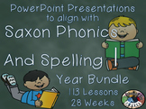Saxon Phonics and Spelling 1st Grade 1 Year Long Bundle PowerPoints