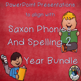 Saxon Phonics and Spelling Grade 2 (Second Grade) Year Long Bundle PPTs