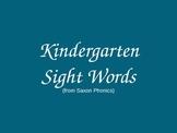 Saxon Sight Word Powerpoint for Kindergarten