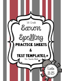 Saxon Spelling Practice Sheets and Test Templates 21-25