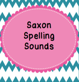 Saxon Spelling Sounds