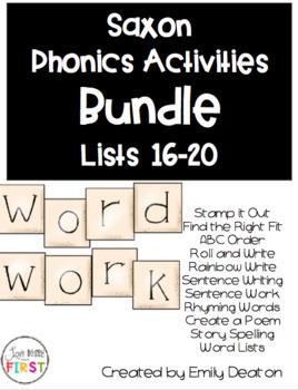Saxon Word Work Bundle Lists 1-25