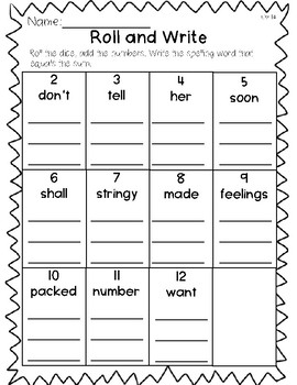 Saxon Word Work List 14