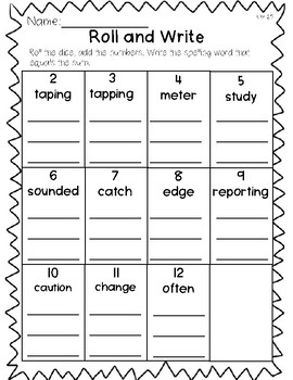 Saxon Word Work List 25