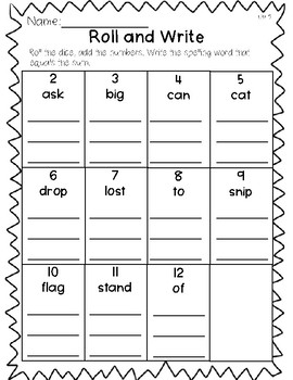 Saxon Word Work List 5