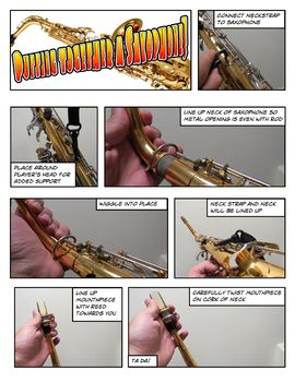 Saxophone Assembly Comic Strip