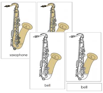 Saxophone Nomenclature Cards