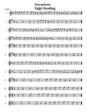 Saxophone sight-reading