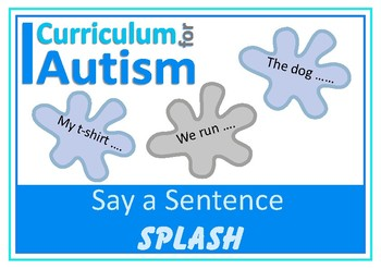 Saying Sentences Flashcards Autism Special Education Speech