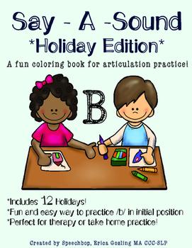 Say-A-Sound /B/ - Holiday Edition!