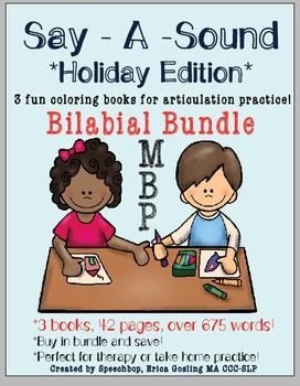 Say-A-Sound - Bilabial Bundle! /M, B, P/ - Holiday Edition!