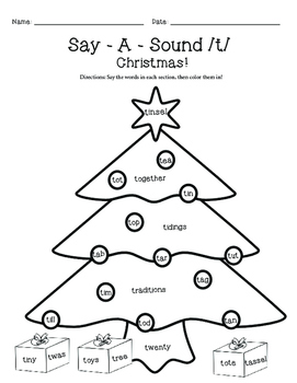 Say-A-Sound /T/ - Holiday Edition!