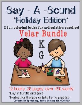 Say-A-Sound - Velar Bundle! /K, G/ - Holiday Edition!