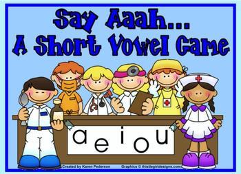 Say Aaah...A Short Vowel Smartboard Game