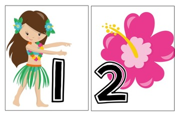 Say Aloha: End of the Year Countdown Activity and Certificates